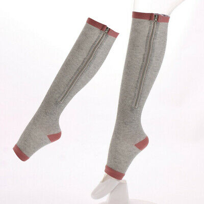 Women Men Compression Socks Full Length Zip Up Stockings  Sock