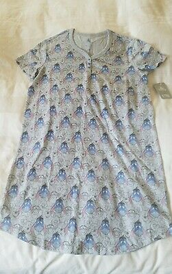 NWT Disney Store Eeyore & Friends Nightshirt Nightgown for Women XS Extra Small