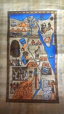 ancient egyptian antique Map of Egypt BC (Papyrus)