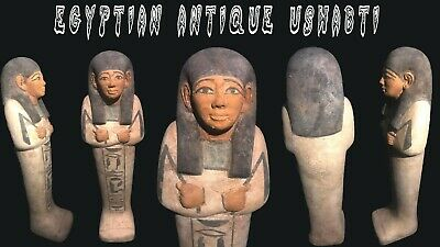 Ancient Egyptian Antiques Ushabti Shabti Statue Luxor Egypt Stone Bc