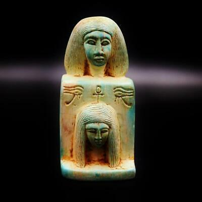 Fine Antique Egyptian Faience Ushabti Statue Figure_ANCIENT EGYPT..ONE OF A KIND