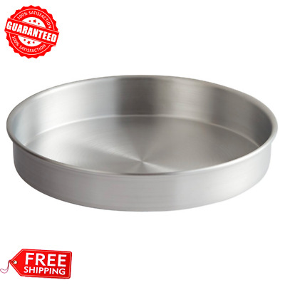 "12"" x 2"" Commercial Kitchen Round Aluminum Deep Dish Cake Pizza Baking Food Pan"