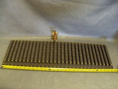 "Rex 7703 9"" Wide MatTop Conveyor Table Chain HP7703-9 Rexnord 28"" Long"