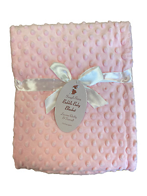 Baby Blanket Dimple Bubble Super soft 75x95cm Approx. Plain or Personalised