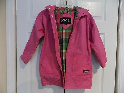 Totes girls hooded rain jacket. size M