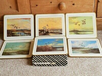 Vintage Boxed Cambridge Series Wild Fowl Cotswood Tableware 6 Placemats