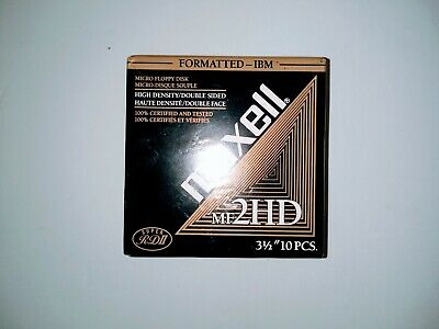 MAXELL 2HD 3.5 Floppy Disks: Formatted IBM  2   10 Packs  NEW SEALED
