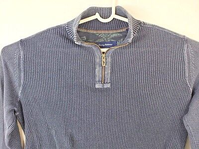 TOMMY BAHAMA  Men's LARGE SWEATER BLUE Casual