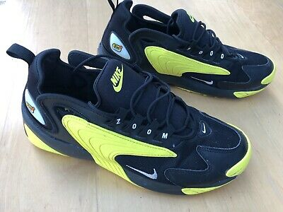 NIKE AIR ZOOM 2k Zm 2000 Black Yellow White UK Size 9.5 -In Very Good  Condition - £39.99   PicClick UK