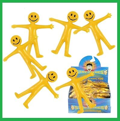 Stretchy Men Bendy Smile Man Birthday Party Loot Bag Children Toy UK Stockist
