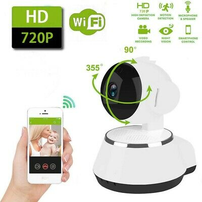 Wireless HD 720P Pan Baby Pet Monitor Network Security IP Camera IR WiFi Webcam