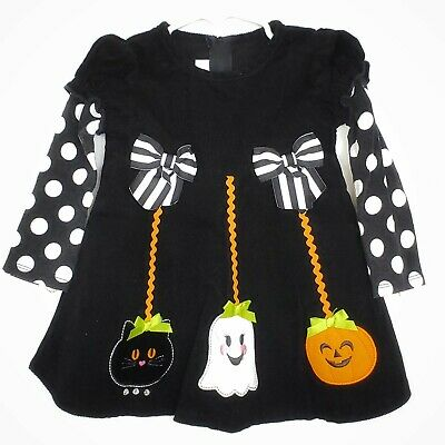 SALE Matilda Witch Baby Romper Ready to Ship Baby Halloween Romper Ruffle Baby Romper Halloween Outfit 612m