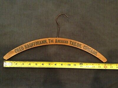 Collectible Vintage Wooden Advertising Coat Hanger The American Tailor, Chicago