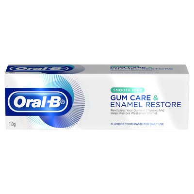 Oral-B Gum Care & Enamel Restore Toothpaste 110g Fluoride - Smooth Mint