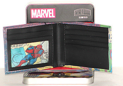 Marvel Spider-Man Slimfold Wallet Boys With Case