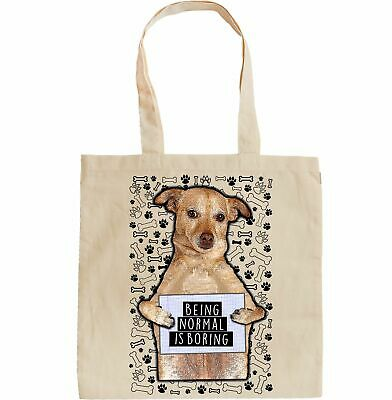 Gift For Dog Lovers Reusable bag Ideal Present Quality Canvas Gusseted Tote  Shopper Howard Robinson Animal Artist Border Terrier
