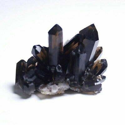 Natural Smoky Quartz Crystal Cluster Geode Druze Reiki Healing Point Specimen
