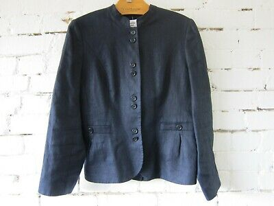 Navy Blue Linen Jacket Margaret Howell Retro Style 14 Austin Reed Good Condition 25 00 Picclick Uk