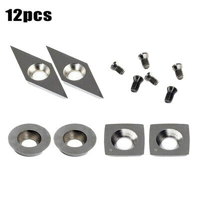 Incl O6H9 3Pcs Tungsten Carbide Cutters Inserts Set For Wood Lathe Turning Tools