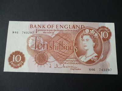 1963 Replacement Ten Shilling Note J.q.hollom About Uncirculated Duggle B296