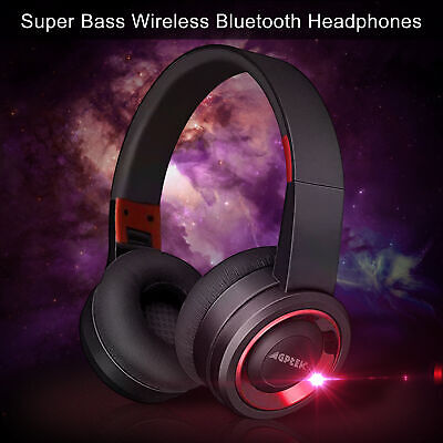Foldable Wireless Headphones Bluetooth Headset Noise Cancelling Over Ear w/ Mic