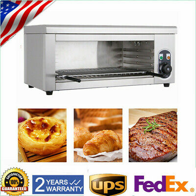 Electric Cheese Melter Broiler BBQ Gril Countertop Grill Adjustable 50-300 °C US