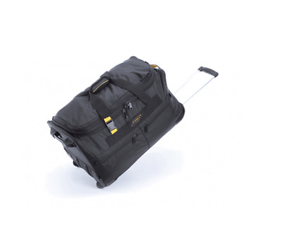 """A. Saks 25"""" Expandable Rolling Trolley Duffel Black - NEW"""