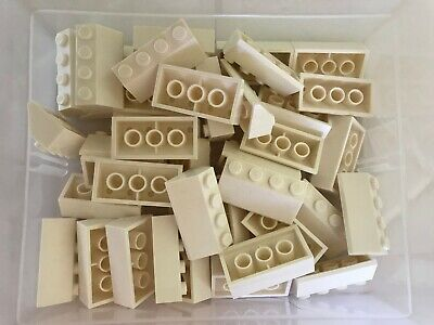 Slope 45 2 x 4 ~ Part# 4 LEGO Parts Pieces Lot ~ 3037 REDDISH BROWN