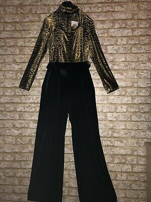 """Amazing VTG Early 80s Designer Velour jumpsuit States 12 Fit 10 36"""" Lori Weidner"""