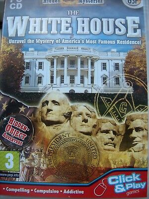 The White House---Hidden Mysteries---Hidden Object---Pc Cd---Mint Condition