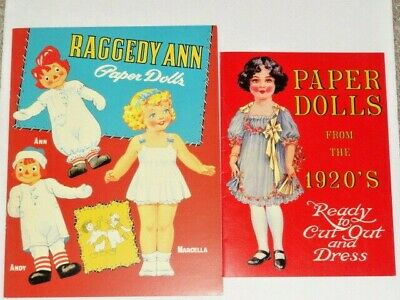 1991 B Shackman Colleen Moore 1920s Actress Hollywood Dollies Paper Dolls NOS