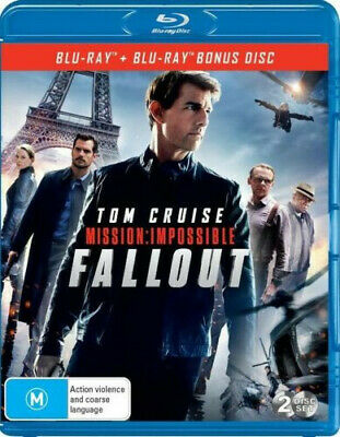 Mission Impossible - Fallout Blu-ray Region B Christopher McQuarrie 2-Disc set