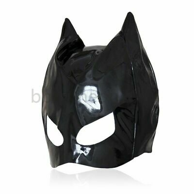 Faux Leder Cat Woman Hoodie Head Restraint Hood Headgear Funplay