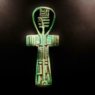 Rare Antique Amulet Cross ANKH Key of Life Ancient Egyptian..LARGE_ONE OF A KIND