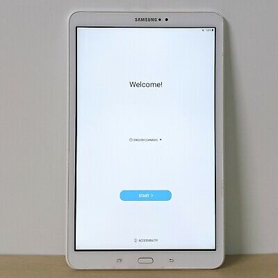 """Samsung Galaxy Tab A 10.1"""" Android Tablet SM-T580NZWAXAC White Tested Working"""