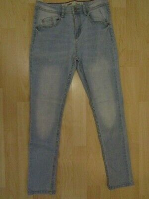 Primark boys skinny jeans pale blue age 11-12 yrs VGC