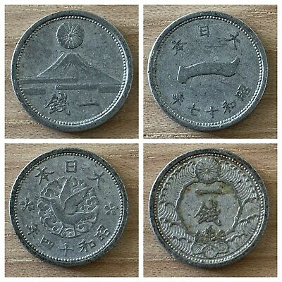 Japan Aluminium WW2 y#61.2 VF+ Showa year 17 10 Sen 1942