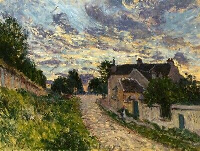 A Path in Louveciennes Alfred Sisley Oil Painting Hand-Painted on Canvas 24x32