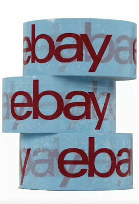 7 x Blue eBay Branded Packaging Strong Parcel Packing Tape 66m Long 48mm Wide
