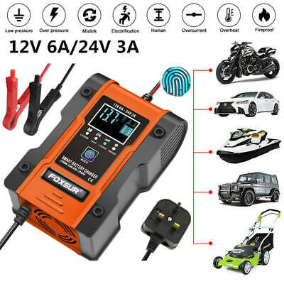 12V/24V Automatic Lithium LiFePO4 Smart Battery Charger for Car Truck Motorcycle