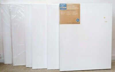 Art Stretched Canvas Blank Any Size 2-10 PACKS Sets Lot Student Pro Black White