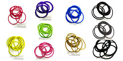 500 x BLACK /& CLEAR Snag Free Thin Rubber Hair Bands Bobbles Loom Bands Ponytail