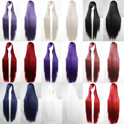 Wig Womens Long Straight Hair Wig Fancy Dress Anime Cosplay Full Wigs Party