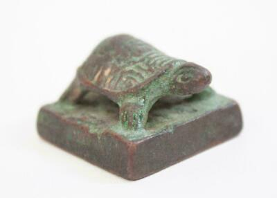 Antique Chinese turtle Stone stamp material SEAL Calligraphy tool