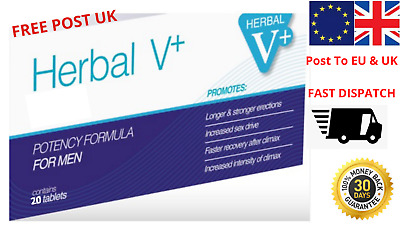 20 Herbal V HARD ON PILLS,  STRONGEST - UK FREE POST  Same Day Dispatch Possible