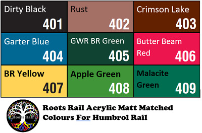 15ml Acrylic Model Paint Hornby Humbrol Rail Colours Matched : Roots Model Paint