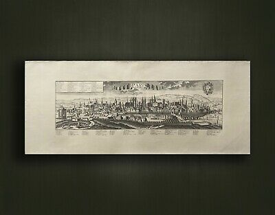 Edizioni Ponte Vecchio by G B Probst  F B Werner Vintage art engraving print of Perspective view of Pisa Pisa city map