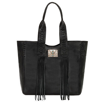 American West 5920915 Mohave Canyon Large Zip Top Tote, Black