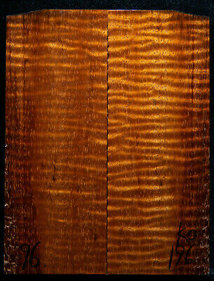 """Curly Koa #196 Knife Scales 5""""x 2""""x 7/16"""" see 100 species in my store"""