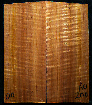 """Curly Koa #200 Knife Scales 5""""x 2.1""""x 1/2"""" see 100 species in my store"""